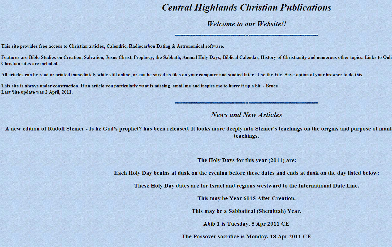 Central Highlands Christian Publications